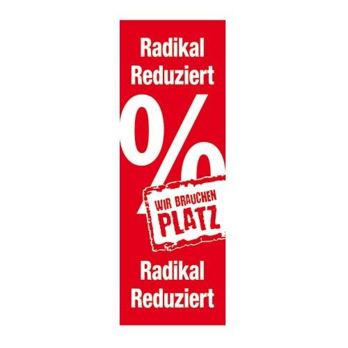 """Plakat """" Radikal Reduziert Wir brauchen Platz """""""