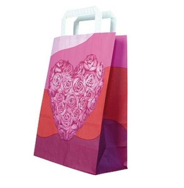 Papier-Tragetaschen Heart