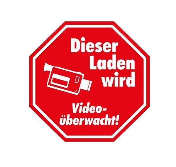 """Aufkleber """" Video überwacht ! """""""