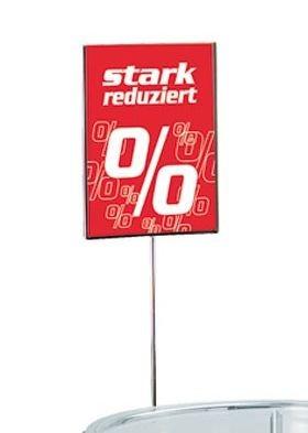 Plakathalter für Aktions-Verkaufsschale