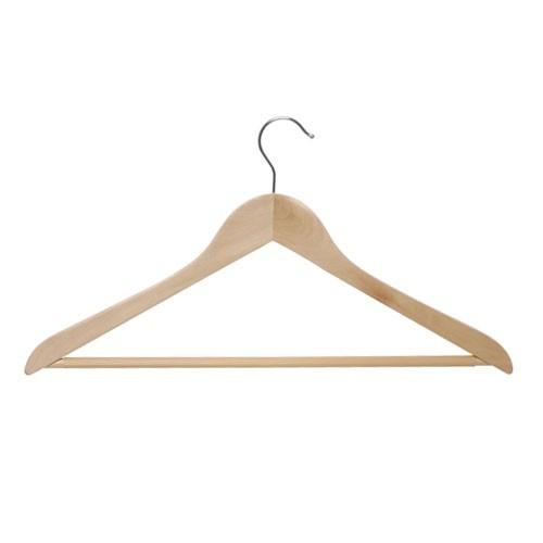 Holz Kleiderbügel mit Steg, gewinkelt