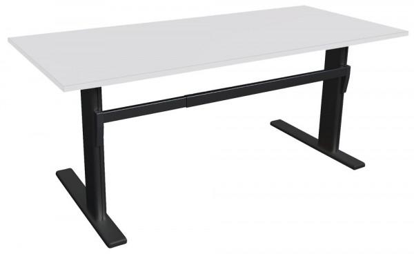 Höhenverstellbarer Schreibtisch Gestell Alu schwarz