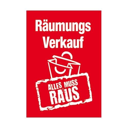 """Rahmenschild """" Räumungsverkauf ALLES MUSS RAUS """""""