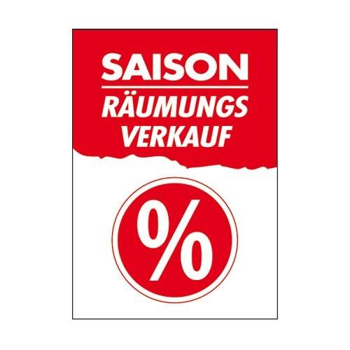 """Rahmenschild """" Saison Räumungsverkauf """""""