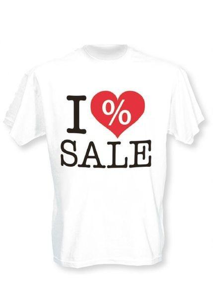 """T-Shirt - Aufdruck """" I LOVE SALE """""""