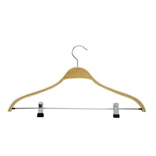 Schichtholz Kleiderbügel mit Klammersteg