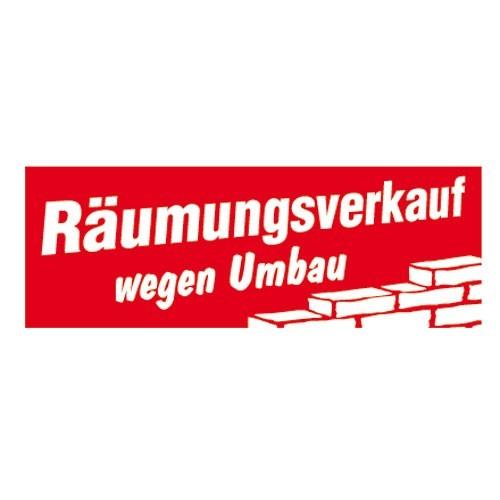 """Aufkleber """" Räumungsverkauf Umbau """""""