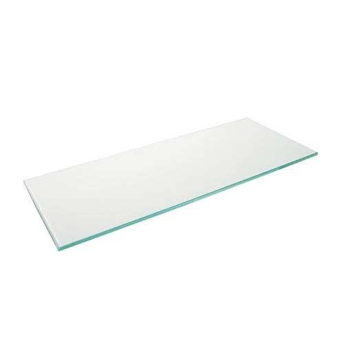 Glasfachboden glasklar und satiniert