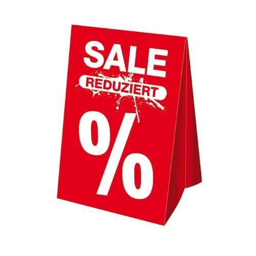 """Dachaufsteller - """" SALE REDUZIERT % """""""