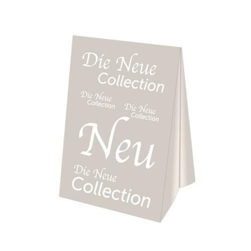 """Dachaufsteller - """" Die Neue Collection """""""