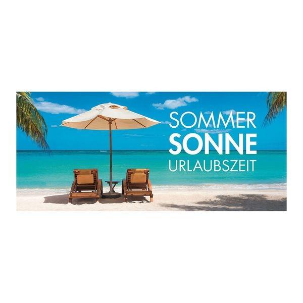 """Plakat """" SOMMER, SONNE, URLAUBSZEIT """" - quer"""