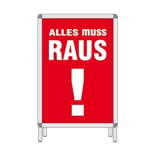 Rahmenplakat - ALLES MUSS RAUS !