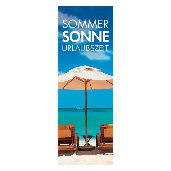 """Plakat """" SOMMER, SONNE, URLAUBSZEIT """" - hoch"""