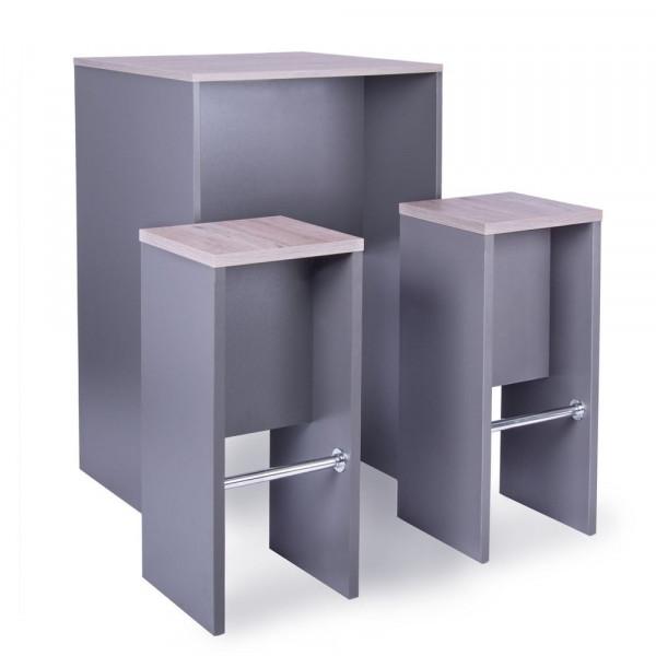 Stehtisch Set - Besprechungsecke Tisch + 2 Hocker