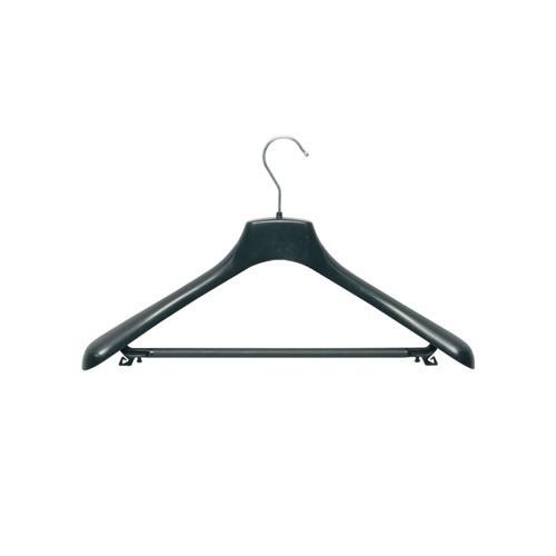Kunststoff Kleiderbügel - Anzugbügel mit Steg, gewinkelt