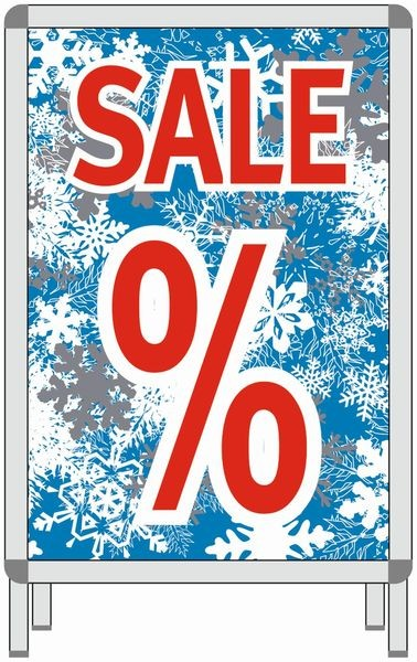 Rahmenplakat - Eiskristalle-Sale-%