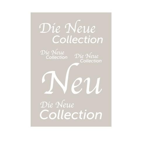 """Rahmenschild """" Die Neue Collection """""""