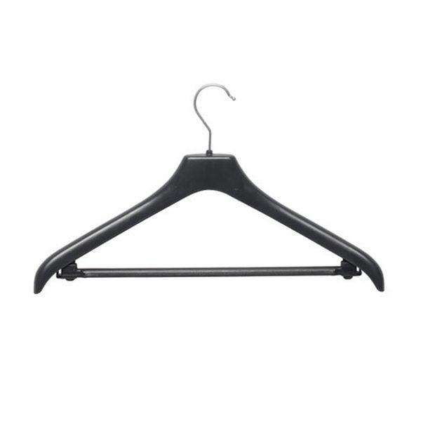 Kunststoff-Kleiderbügel mit Steg, gewinkelt