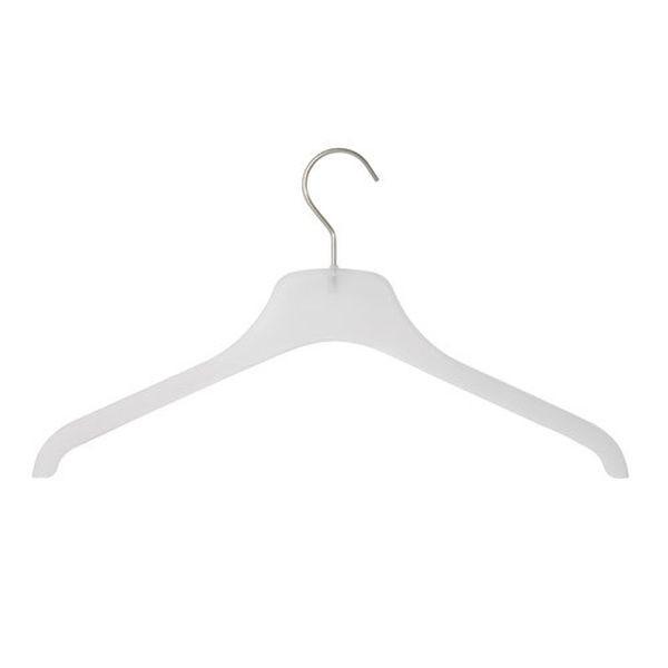 Kunststoff-Kleiderbügel frosted gerade
