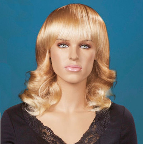 Damen Perücke blond, gelockt