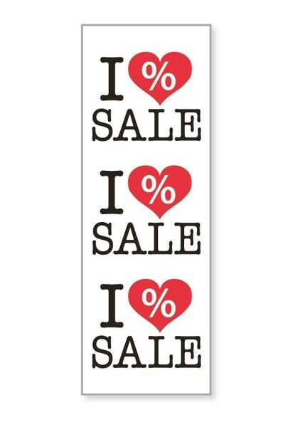 "Plakat "" I Love SALE """