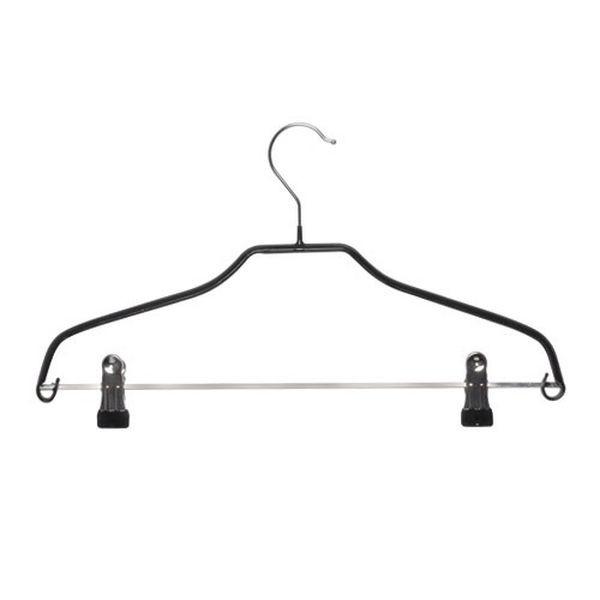 Form Kleiderbügel Metall, beschichtet, mit 2 Clips