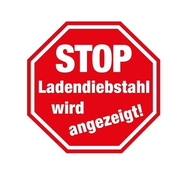 """Aufkleber """" STOP Ladendiebstahl """""""