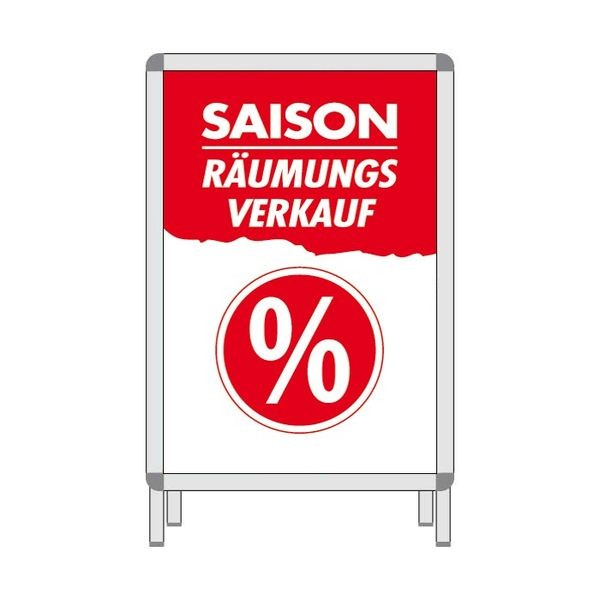 Rahmenplakat - Saison Räumungsverkauf %