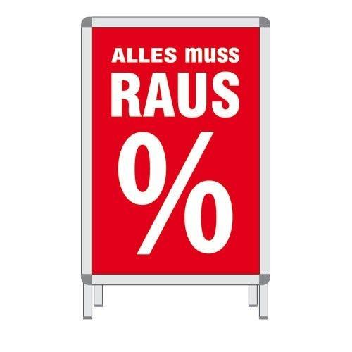 Rahmenplakat - ALLES MUSS RAUS %