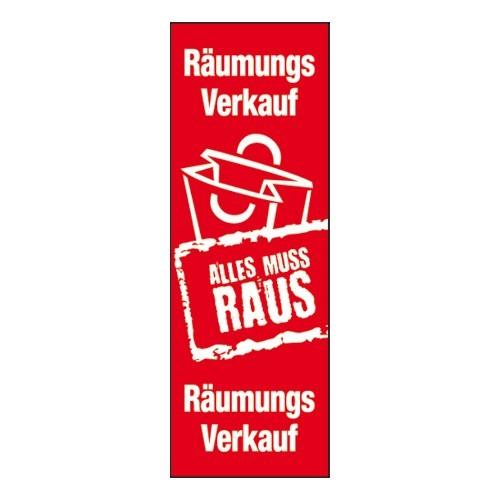 "Plakat "" Räumungs Verkauf ALLES MUSS RAUS """