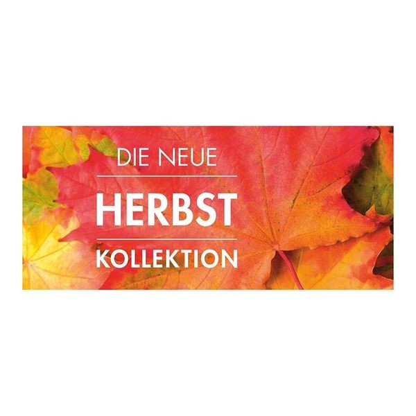 """Plakat """" DIE NEUE HERBST KOLLEKTION """" - quer"""