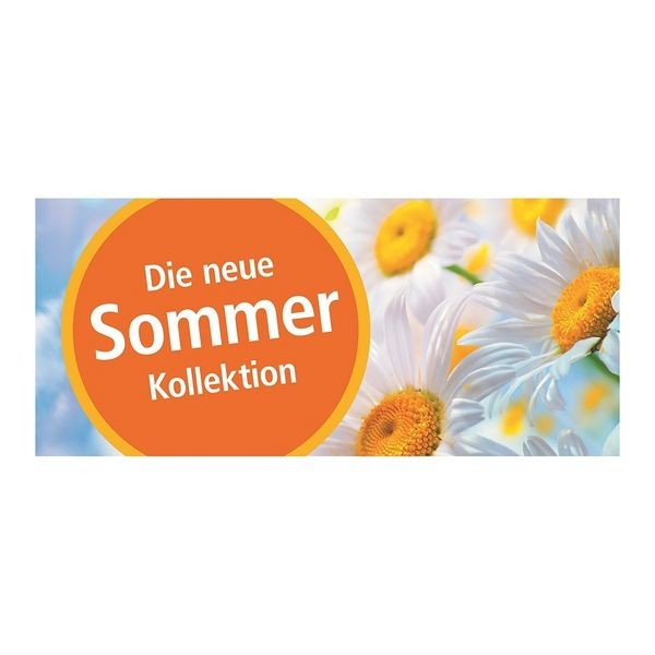 """Plakat """" Die neue Sommer Kollektion """" - quer"""