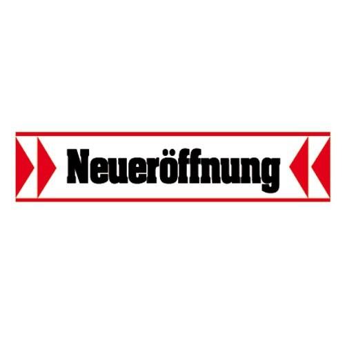 """Aufkleber """" >> Neueröffnung << """""""
