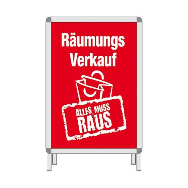 Rahmenplakat - Räumungsverkauf ALLES MUSS RAUS